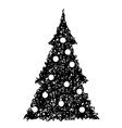 Christmas tree 2 vector image