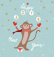 Monkey year card vector image