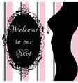 Erotic shop banner vector image