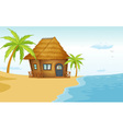 Beach bungalow vector image vector image
