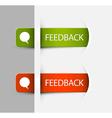 Feedback Labels Stickers vector image vector image