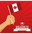 Canadas County design Maple leaf iconFlag vector image