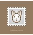 Cat stamp Animal head vector image