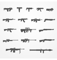 Guns and weapons set vector image