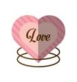 love decorative card cute heat shadow vector image