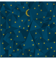 Night sky made from crumpled paper vector image