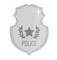 Police badge silver vector image