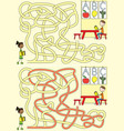 preschool maze vector image