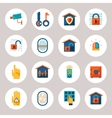 Real Estate Protection Icons vector image