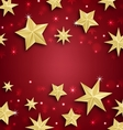 Starry Border for Merry Christmas and Happy New vector image