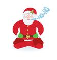 Santa Claus sitting as yogi vector image vector image