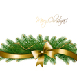 Christmas background with christmas tree branches vector image