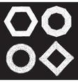 Set of four chalk textured frames vector image