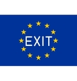 Flag of Europe with word Exit vector image
