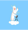 almighty bearded god character on vector image