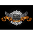 Coat of arms film clapper vector image