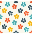 Floral seamless pattern background vector image