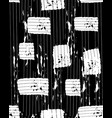 grunge pattern with white rectangles on black vector image
