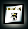 Halloween night background with castle and bird vector image