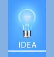 hanging light bulbs with glowing one different vector image