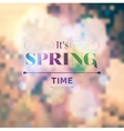 Its Spring Time vector image