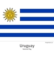 National flag of Uruguay with correct proportions vector image