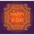 Shiny greeting card with pattern vector image