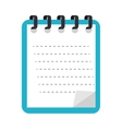 notes book stationary page vector image