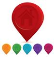 Home icon drop pin vector image vector image