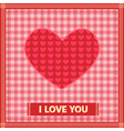 sewing valentine vector image vector image