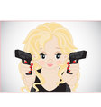 Girl with guns vector image vector image