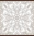 arabesque vintage element outline for design vector image