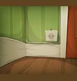 cartoon corner of room close-up vector image