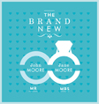 Ring themed wedding card vector image