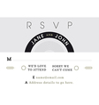 RSVP Wedding Card black and grey theme vector image
