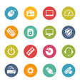 computer and devices icons vector image vector image
