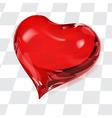Big transparent heart vector image vector image