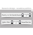 Banners Party in Wonderland - Clocks vector image