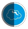 Cloud weather symbol vector image