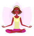 ethnic female practicing yoga vector image