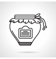 Jam jar black line icon vector image