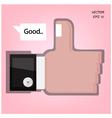 Like us hand sign vector image