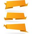 Origami orange wallpapers vector image
