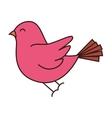 pink bird flying vector image