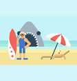 Surfer on the beach vector image