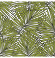 tropical leaves hand drawing seamless pattern for vector image