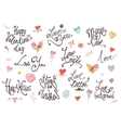 Valentine Day Love and Wedding lettering vector image
