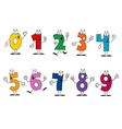Friendly Cartoon Numbers Set vector image
