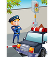 A traffic enforcer vector image vector image