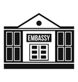 Embassy icon simple style vector image